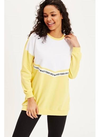 DeFacto Renk Bloklu Tunik Sarı